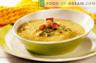 Supă de pui de mazare - cele mai bune rețete. Cum să gătești în mod corespunzător și gustos supă de mazăre cu pui.