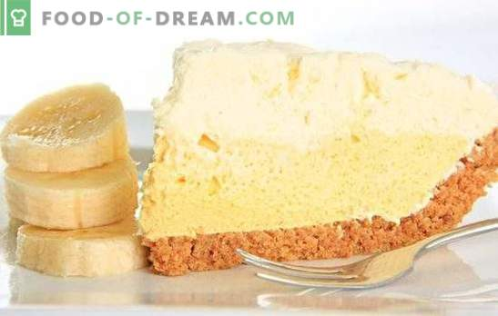 La crème pâtissière à la banane est une friandise incomparable. Comment préparer facilement et rapidement le gâteau à la crème à la banane original