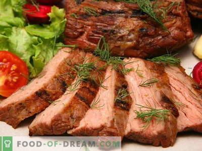 Carnea coaptă în cuptor - cele mai bune rețete. Cum să gătiți carnea în cuptor în mod corespunzător și gustoasă.