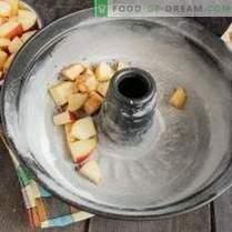 Lean charlotte с ябълки и канела върху растителна сметана