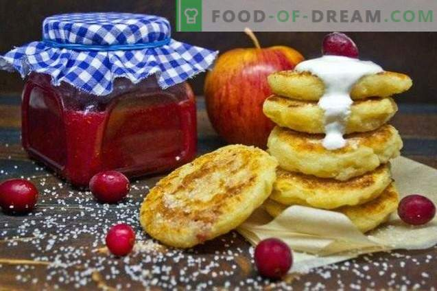 Cheesecakes cu merișor și umplutură portocalie