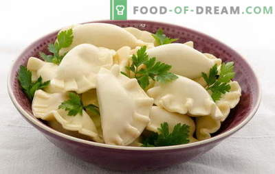 Dumplings on kefir with potatoes - tender, airy, with gravy. A selection of available recipes for dumplings on kefir with potatoes
