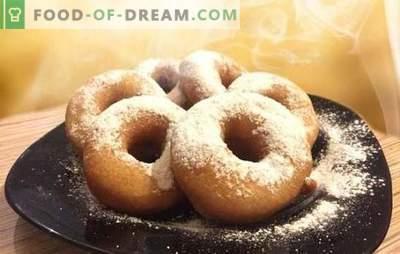 Donuts pentru kefir - rețete cu fotografii și multe trucuri! Gatit detaliat al diferitelor gogoși pe kefir în funcție de rețete cu fotografii