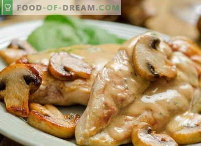 Pui în smântână - cele mai bune rețete. Cum să gătești carnea de pui în smântână.