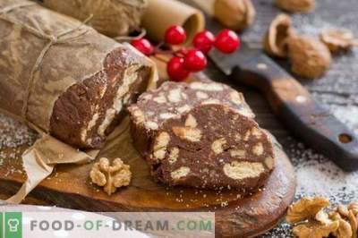 Cârnați de ciocolată - desert fără coacere