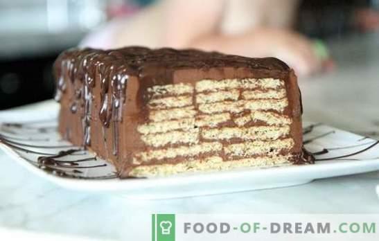 Tort fără coacere și lapte condensat - în câteva minute! Cum sa faci un tort de la cookie-uri si lapte condensat fara coacere