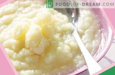 Pureul de conopidă - cele mai bune rețete. Cum să gătești în mod corect și gustos piure de conopidă pentru copii.