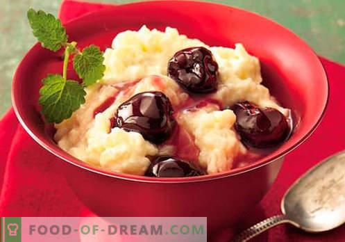 Budinca de orez - cele mai bune retete. Cum să gătesc în mod corect și gustos budinca de orez.