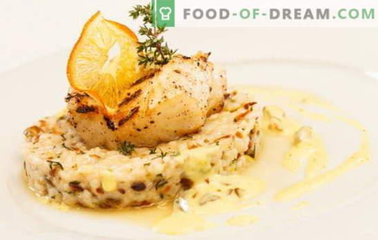 Pește în cremă: gătitul este ușor, mâncarea este utilă. Variante de pește de gătit în cremă: cu ciuperci, brânză, creveți