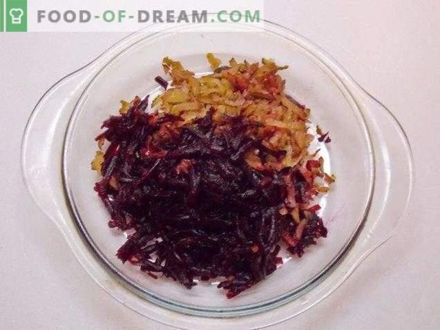 Salată de sfeclă roșie cu nucă de usturoi și Bordeaux