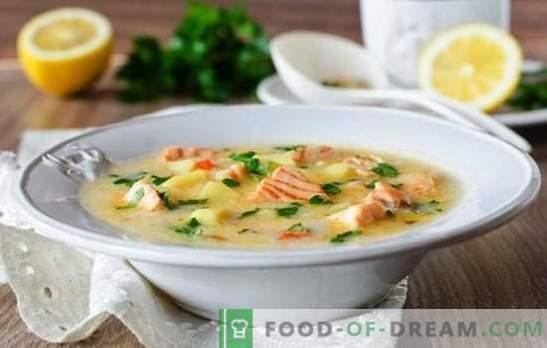 Grietinėlės sūrio sūris yra paprastas gurmaniškas patiekalas. Geriausi sūrio sriubos sriubos receptai