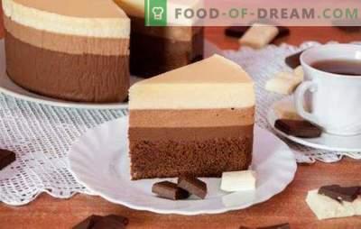 Trei prăjituri de ciocolată: o rețetă pentru cei mai rafinați gurmanzi.