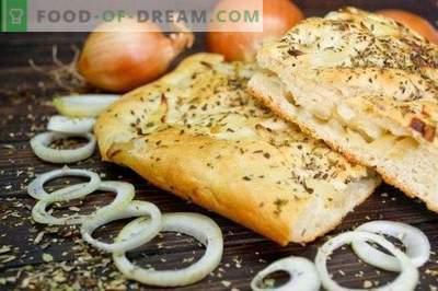 Focaccia italiană - pâine prăjită cu ceapă