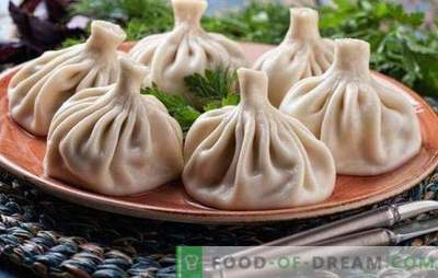 Steamed Khinkali - new recipes for amazing dishes. Cooking delicious steamed khinkali with meat, mushrooms, vegetables, sweet stuffed