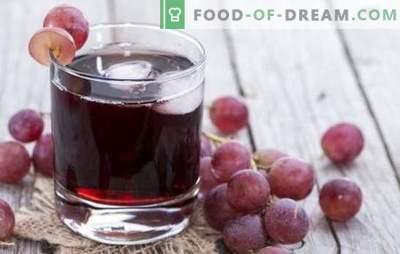 Suc de struguri pentru iarnă acasă: cum se face corect? Cele mai bune retete de suc de struguri pentru iarnă din tigaie sau juicer