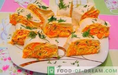 Morcovi cu brânză topită - portocaliu! Rețete pentru salate rapide și luminoase, gustări de morcovi cu brânză topită