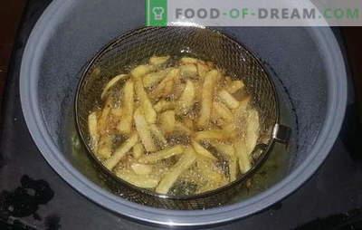 Cartofi prăjiți multicooker - un fast-food preferat acasă. Retete pentru cartofi prăjiți într-un aragaz lent, precum și sosuri pentru el