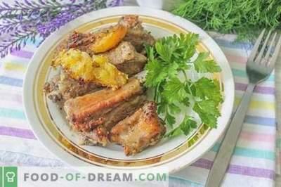 Coaste de porc la coacere în marinada de citrice