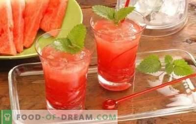 Cocktail-uri pepene verde - băuturi răcoritoare pentru petreceri și relaxare. Rețete pentru cocktail-uri pe bază de pepene verde nealcoolice și alcoolice