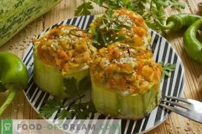 Zucchini umplute în cuptor