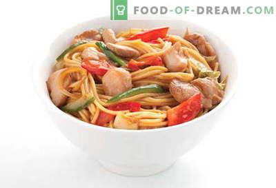 Fideos de pollo son las mejores recetas. Cómo cocinar correctamente y sabrosa la sopa y los fideos caseros con pollo.