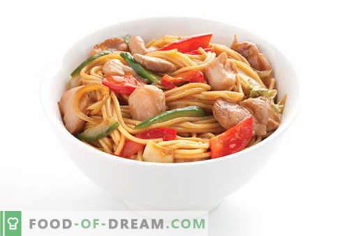 Пилените юфка са най-добрите рецепти. Как правилно и вкусно да се готви супа и домашно приготвена юфка с пиле.