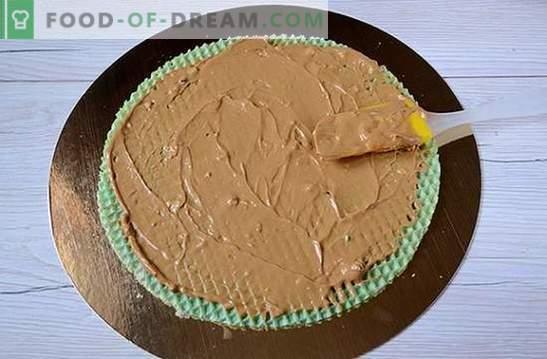 Waffelkuchen: ein schrittweises Fotorezept. Aus Konfektkuchen mit kondensierter Milch einen Waffelkuchen backen - einfach und sehr lecker!
