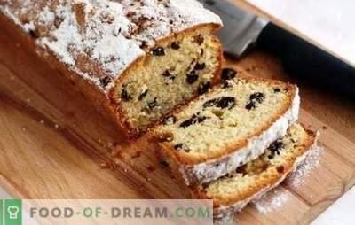 Tortul perfect cu stafide: o rețetă conform GOST sau coacerea la domiciliu? Cupcake