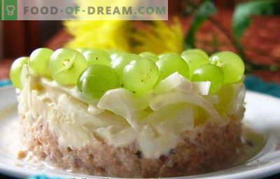 Salata Tiffany - o selecție a celor mai bune rețete. Mod de salata gatita si gatita