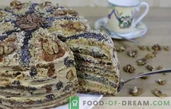 Doamnelor Caprice Cake - hai să răsfățăm cu dulciuri! Rețete pentru miere, mac, nuci, prăjituri de ciocolată