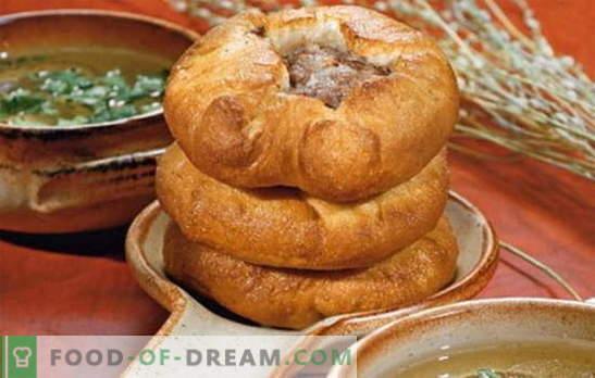 Drojdie belyashi - fel de fel de mâncare tătară? Rețete de albine parfumate și suculente pe drojdie cu umpluturi diferite