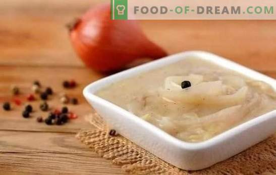 Sos de ceapa - neobișnuit de simplu, ireal delicios! Rețete de sos de ceapă cu vin alb și roșu, smântână, roșii, smântână, slănină