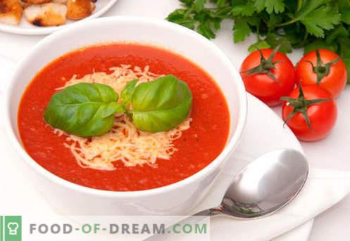 Supă de cremă de tomate - rețete dovedite. Cum să gătești în mod adecvat și delicios supa de piure de roșii.