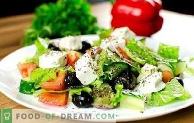 Salata greacă: rețete clasice pas cu pas. Gătit salata delicioasă, sănătoasă și proaspătă în funcție de rețete clasice