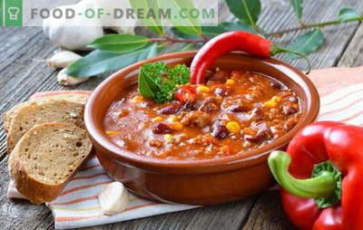Supă mexicană - cina va fi originală! Rețete de supe mexicane diferite: cu porumb, fasole, carne tocată, carne de pui, orez