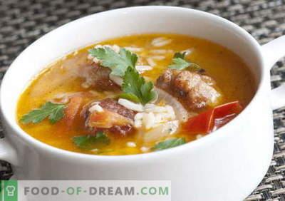 Supe cu orez - cele mai bune rețete. Cum să gătești supa de gătit corect și gustoasă cu orez.