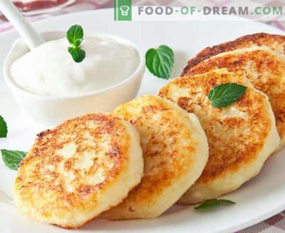 Cheesecakes din brânză de vaci - clasic, cu gris, lux, în cuptor - cele mai bune rețete. Cum să le gătești