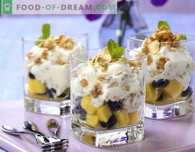 Salată de fructe cu iaurt - primele cinci rețete. Cum să gustați în mod corespunzător și să preparați o salată de fructe cu iaurt.