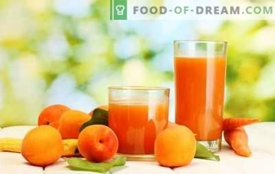 Suc de caise pentru iarnă - băutură insorită! Moduri diferite de recoltare a sucului de caise pentru iarnă la domiciliu