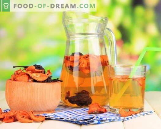 Kompotas iš džiovintų vaisių - geriausi receptai. Kaip tinkamai ir skaniai kompotą iš džiovintų vaisių.