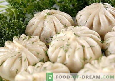 Khinkali - cele mai bune retete. Cum să gătești în mod corespunzător și gustos Khinkali.