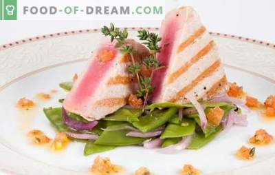 Friptura de ton - sănătoasă, gustoasă, apetisantă. Rețete pentru friptura de ton cu ierburi, lămâie, brânză, ciuperci și altele