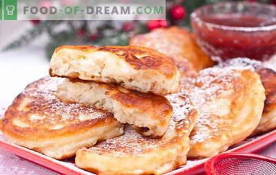 Krapfen mit Äpfeln auf Joghurt - so sehr! Krapfen mit Äpfeln auf Joghurt: plain, Hefe, Haferflocken und Hüttenkäse