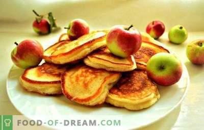 Fritos sem ovos no leite - um café da manhã tradicional de uma maneira nova. As melhores receitas fritas sem ovos: clássico, creme, exuberante