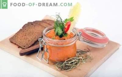 Caviar de squash în conformitate cu GOST: rețete de gustare de referință! Cum se gătește caviar în conformitate cu GOST: rețete pentru mașini de gătit și multicookers