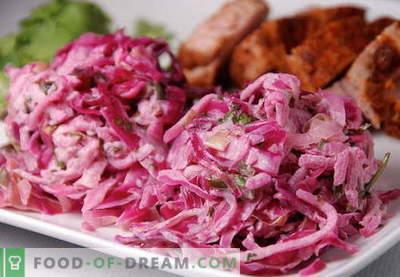 Салата от червено зеле - най-добрите рецепти. Как да правилно и вкусно да се подготви салата от червено зеле.