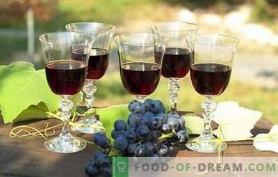 Vin de struguri negri: prepararea materiilor prime și tehnologia de preparare. Rețete pentru vin de struguri negri de casă