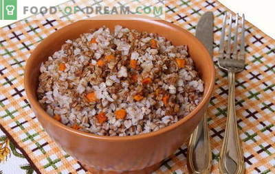Hrișcă cu morcovi - porridge inteligent! Rețete de hrișcă cu morcovi și cu ceapă, roșii, ciuperci, pui, ouă