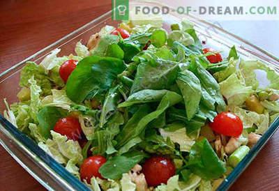 Salată cu sparanghel - o selecție de cele mai bune rețete. Cum să gătești corect și gustos o salată cu sparanghel.