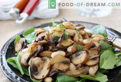 Salată cu ciuperci prăjite - o selecție de cele mai bune rețete. Cum să gătești corect și gustos o salată cu ciuperci prăjite.